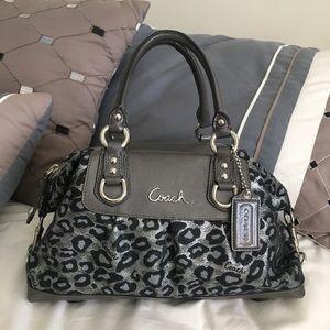 COACH Ashley Ocelot Handbag